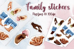 Family Stickers, Hands, Feet, Fingers Graphic Illustrations By Arte de Catrin