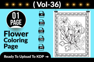Flower Coloring Page KDP Interior Graphic Coloring Pages & Books Adults By Md Abu Saeid