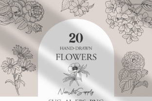 Flower Line Art Vector Graphic Icons By niceartsupply