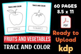 Fruits & Vegetables Handwriting Practice Graphic Teaching Materials By MOBAAMAL