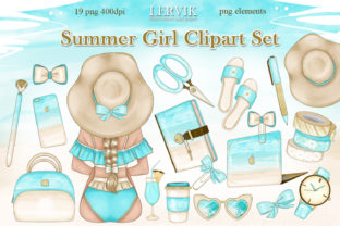 Print on Demand: Hello Summer CLIPART Summer Clipart Png Graphic Illustrations By LerVik 1