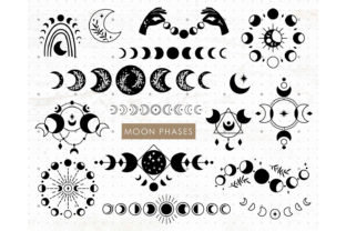 Moon Phases Bundle Graphic Illustrations By MySpaceGarden 1