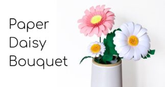Make Your Own Paper Daisy Bouquet