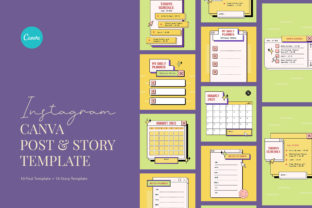 Print on Demand: Retro Computer Planner Canva Graphic Graphic Templates By peterdraw