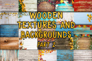 Print on Demand: Rustic Wooden Textures and Backgrounds Graphic Backgrounds By julienstore