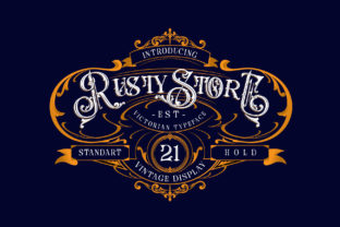 Print on Demand: Rusty Store Blackletter Font By Alit Design