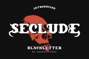 Print on Demand: Seclude Blackletter Font By Arendxstudio