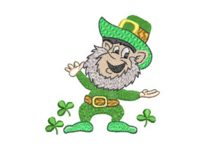 St. Patrick Gnome St Patrick's Day Embroidery Design By Canada Crafts Studio