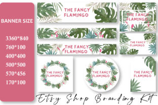 Print on Demand: Watercolor Floral Etsy Shop Banners Graphic Web Templates By Floralworld