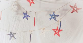 How to Make a Star-Spangled Banner with Popsicle Sticks
