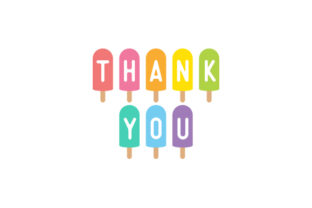 Thank You Ice Lollies Designs & Drawings Craft Cut File By Creative Fabrica Crafts