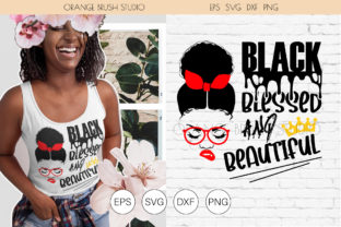 Print on Demand: Afro Woman SVG. Black Quote SVG Cut File Graphic Crafts By Orange Brush Studio