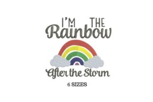 After the Rainbow Inspirational Embroidery Design By SVG Digital Designer