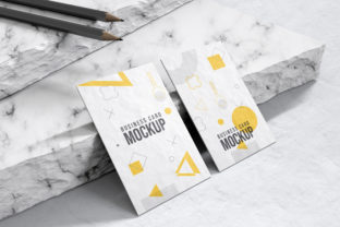 Business Card Mockup with Pencil Graphic Product Mockups By amitav_das