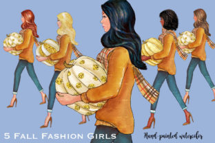 Fall Glitz with Pumpkins Graphic Illustrations By PrintableHenry Outlet 2