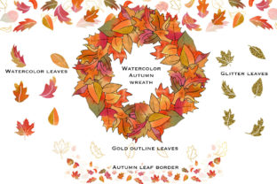 Fall Glitz with Pumpkins Graphic Illustrations By PrintableHenry Outlet 5