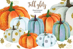 Fall Glitz with Pumpkins Graphic Illustrations By PrintableHenry Outlet 6