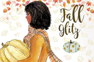 Fall Glitz with Pumpkins Graphic Illustrations By PrintableHenry Outlet 8