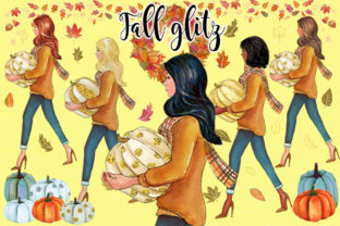 Fall Glitz with Pumpkins Graphic Illustrations By PrintableHenry Outlet 3