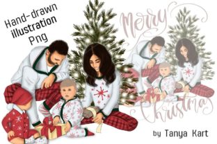 Family Christmas Clipart Graphic Icons By Tanya Kart