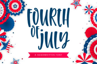 Print on Demand: Fourth of July Script & Handwritten Font By BitongType