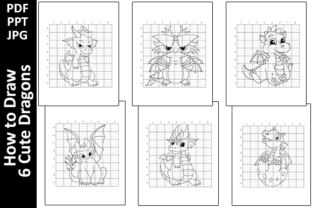 How to Draw 6 Cute Dragons Activity Page Graphic Teaching Materials By Oxyp