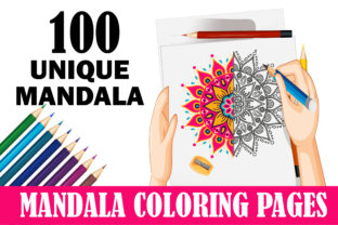 Mandala Coloring Pages for Kids100 Pages Graphic Coloring Pages & Books Kids By mi632883