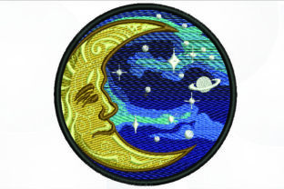 Print on Demand: Moon Patch Borders Embroidery Design By Samsul Huda