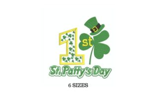 My First St. Patrick's Day St Patrick's Day Embroidery Design By SVG Digital Designer