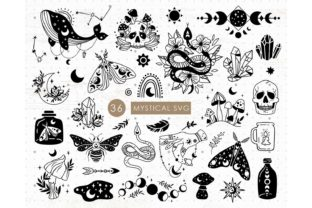 Mystical and Celestial Bundle Graphic Illustrations By MySpaceGarden