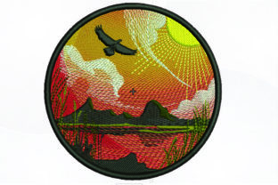 Print on Demand: Nature in a Circle Borders Embroidery Design By Samsul Huda