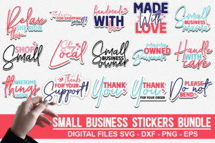 Print on Demand: Small Business Stickers Bundle Graphic Crafts By Designdealy