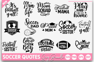 Print on Demand: Soccer Quotes Bundle Graphic Crafts By Designdealy