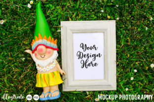 Print on Demand: Summer Gnome Mockup | Gnome Mock Up Graphic Product Mockups By illuztrate