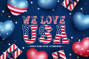 Print on Demand: We Love USA Decorative Font By Dito (7NTypes)