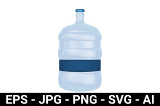 Print on Demand: Water Gallon 3D Mockup for Packaging Graphic Product Mockups By davidstephanus