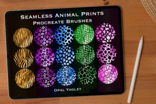 Print on Demand: 15 Animal Skins Seamless Procreate Brush Graphic Brushes By opal.yagley