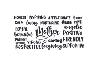 Mother Word Cloud Mother's Day Craft Cut File By Creative Fabrica Crafts