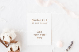 A6 Boho Styled Card Mockup Graphic Product Mockups By White Hart Design Co.