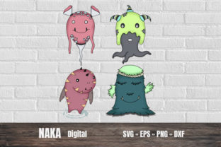 Cute Monster Graphic 3D SVG By NAKA SHOP