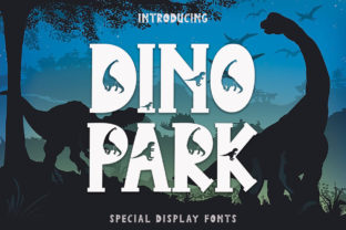 Print on Demand: Dino Park Display Font By yogaletter6