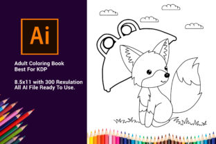 Print on Demand: FOX Cute Coloring Book for Kids KDP Graphic Coloring Pages & Books Kids By DigitalMGoods