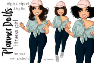 Fitness Girl Planner Doll Graphic Icons By Tanya Kart