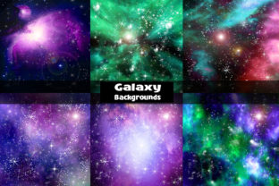 Print on Demand: Galaxy Backgrounds  Digital Papers Graphic Backgrounds By Bellart