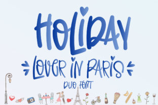 Print on Demand: Holiday Lover in Paris Script & Handwritten Font By Nobu Collections