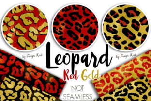 Leopard Red and Gold Patterns Graphic Patterns By Tanya Kart
