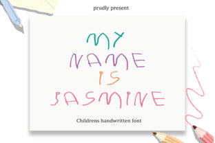 Print on Demand: My Name is Jasmine Script & Handwritten Font By Fillo Graphic