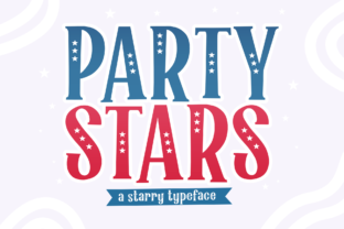 Print on Demand: Party Stars Display Font By Holydie Studio