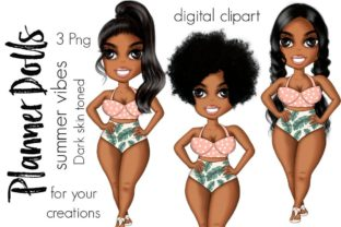 Summer Planner Afro Dolls Graphic Icons By Tanya Kart