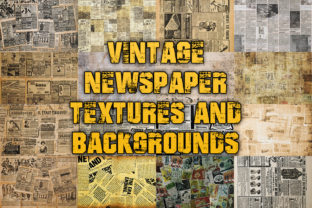 Print on Demand: Vintage Newspaper Textures & Backgrounds Graphic Textures By julienstore